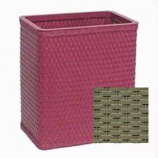 S426SG Chelsea Collection Decorator Color Square Wicker Wastebasket in Sage