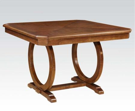 Kaiden Collection 71235 54 inch  Counter Height Table with Square Shape  Ring Base Design and Wood Frame in Walnut