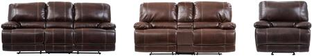 U1953 - AGNES COFFEE - RSCRLGR 3-Piece Living Room Set with Reclining Sofa  Reclining Loveseat and Recliner in Agnes
