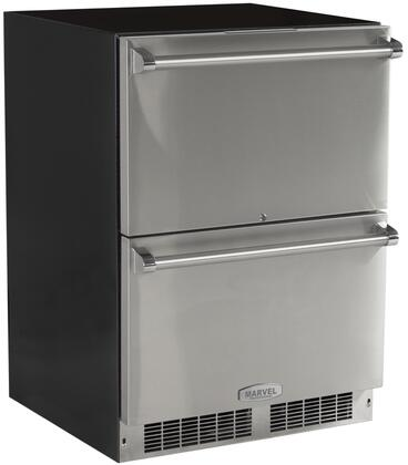 """Professional Series MP24RDS2NS 24"""" Double Drawer Refrigerator with Dynamic Cooling  White LED Lighting  Close Door Assist System  Door Alarm and Integrated"""