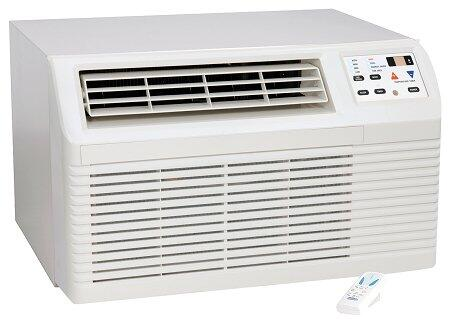 """PBC122G00CB 26"""" Through-the-Wall Air Conditioner with 11 800 BTU Cooling 9.4 EER 115 Volts 4-Way Adjustable Airflow 2 Fan Speeds Electronic Touchpad with"""