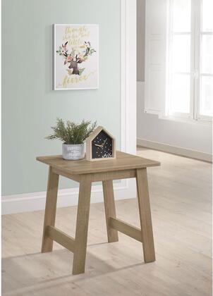 Matt T173-04 End Table with Stretchers  Particleboard and Polyurethane Paper Construction in Craftman