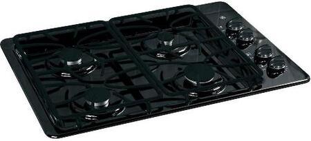 """JGP329DETBB 30"""" Wide 4 Sealed Burner Gas Cooktop  Matte Grates  Dishwasher-Safe Grates and Knobs  Continuous Grates in"""