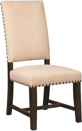 Suthers Collection 102820 19 Side Chair with Nail Head Trim Tapered Legs Smoky Black Asian Hardwood Construction and Chenille Fabric Upholstery in