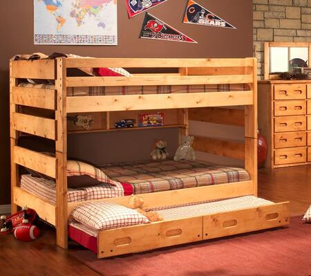 3544144-4739-T Full Over Full Bunk Bed with Trundle Unit in