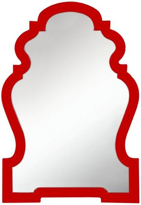 40558 Faith Mirror in Glossy Red
