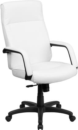 BT-90033H-WH-GG High Back White Leather Executive Office Chair with Memory Foam