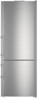 Liebherr CS1640B 30 Fridge-freezer with 15.2 cu ft. Total Capacity 4.2 Cu. Ft. Freezer Capacity NoFrost Glass Shelves Right Hinge Sabbath Mode Energy Star Certified in Stainless Steel