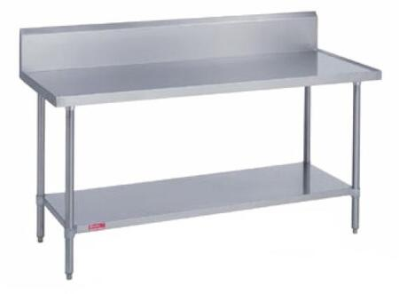 314S3084 84 inch  Work Table with Stainless Steel Top and