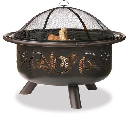 "WAD900SP Endless Summer 35.6"" Diameter Woodburning Outdoor Firepit with Swirl Design in Oil-Rubbed"