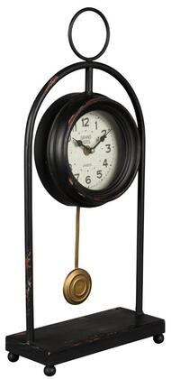 40861 Oringo Table Clock in Aged Black Finish with Red