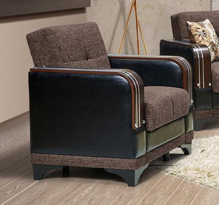 Almira Collection ALMIRA ARMCHAIR COMET BROWN 33