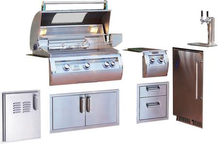 Grill Package with E660I4A1NW Built In Natural Gas Grill  32814 Double Side Burner  53802SC 15