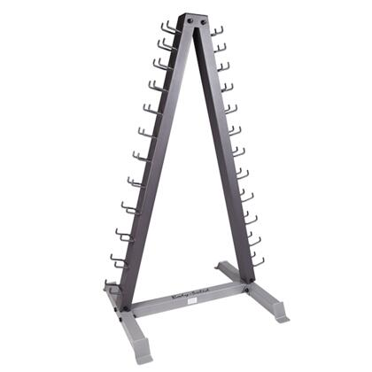 GDR24 2-Tiered Vertical Neoprene Dumbbell Rack with Solid Steel Construction and Space-Saving