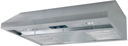 APDQ36 36 inch  Under Cabinet Range Hood with 270 CFM  Lighting  in Stainless