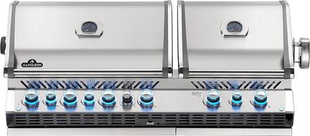 Napoleon BIPRO825RBINSS3 Prestige Pro 825 Built-in Natural Gas Grill with Infrared Rear Burner and Infrared Sear Burners