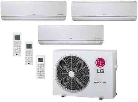 LMU24CHVPACKAGE35 Triple Zone Mini Split Air Conditioner System with 21000 BTU Cooling Capacity  3 Indoor Units  and Outdoor 706625