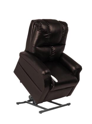 Main Street NM2001-SKC-A01 33 inch  Power Recliner Lift Chair with 3 Position Mechanism  Divided Back  and Sinuous Spring and Foam Seat in Lexi Chestnut