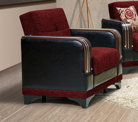 Almira Collection ALMIRA ARMCHAIR BURGUNDY 33