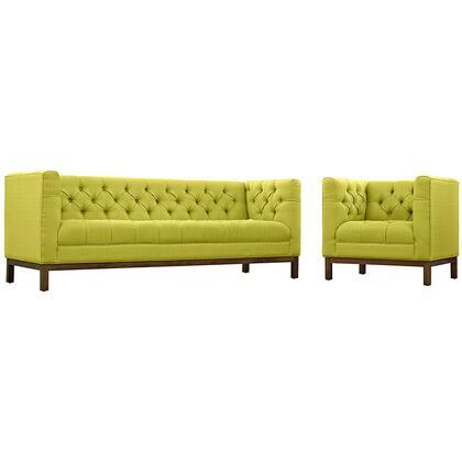 EEI-2437-WHE-SET Panache Living Room Set Fabric Set of 2  in