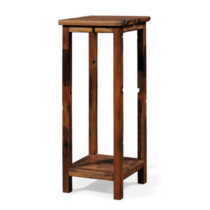 DS-J01 Athos Side Table Unit with Two Tier  Acacia and Robinia Wood Construction in Brown