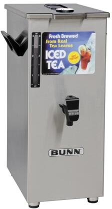 032500043 TD4T Dispenser Square Style Iced Tea And Coffee Dispenser With Brew-Through Lid  4Gal