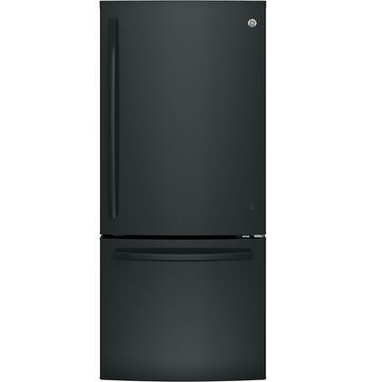 GE 20.9 Cu. Ft. Bottom-Freezer Refrigerator Black GDE21EGKBB