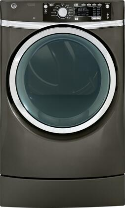 GE RightHeight 8.3 Cu. Ft. 12-Cycle Steam Gas Dryer Metallic Carbon GFDR485GFMC