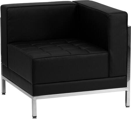 ZB-IMAG-RIGHT-CORNER-GG HERCULES Imagination Series Contemporary Black Leather Right Corner Chair with Encasing
