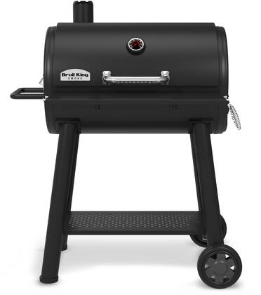 948050 Smoke Charcoal Grill with 625 sq. inches  Heavy Duty Cast Iron Cooking Grid  Charcoal Trays  Bottle Opener  and Adjustable Dampers  in
