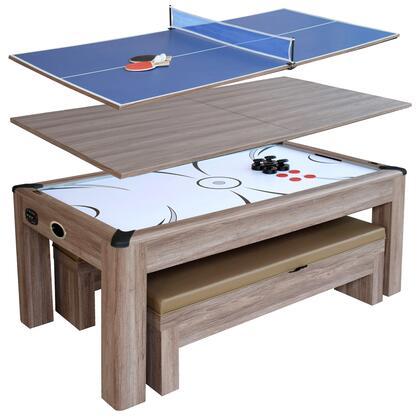 NG1137H Driftwood 7-Ft Air Hockey Table Combo