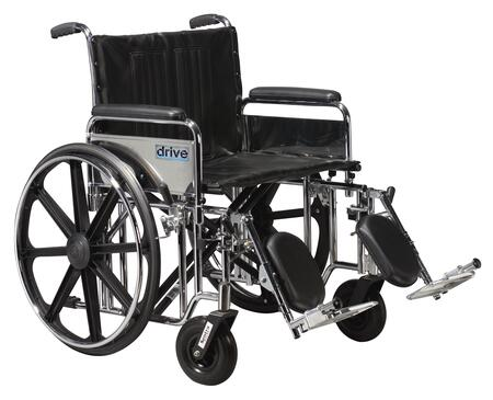 std24dfa-elr Sentra Extra Heavy Duty Wheelchair  Detachable Full Arms  Elevating Leg Rests  24
