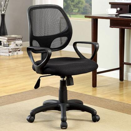 Sherman CM-FC606 Ht. Adjustable Office Chair with Full Metal Construction  Workstation with Shelves  Metal Upper Safety Rails  Silver and Gun Metal Finish in