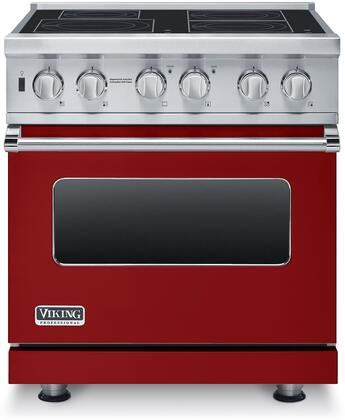 """Professional 5 Series VISC5304BAR 30"""" Electric Induction Range with MagneQuick Induction Elements Vari-Speed Dual Flow Convection Gourmet-Glo Infrared"""