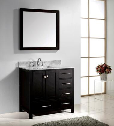 GS-50036-WMSQ-ES-002 Transitional 36 Single Sink Bathroom Vanity