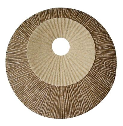 "SGS4141-76F Round Double Layer Ribbed Wall Plaque 19"""" x"" 441870"