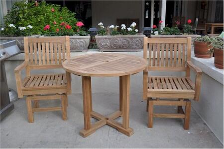 SET-132 3-Piece Bistro Table Set with 35