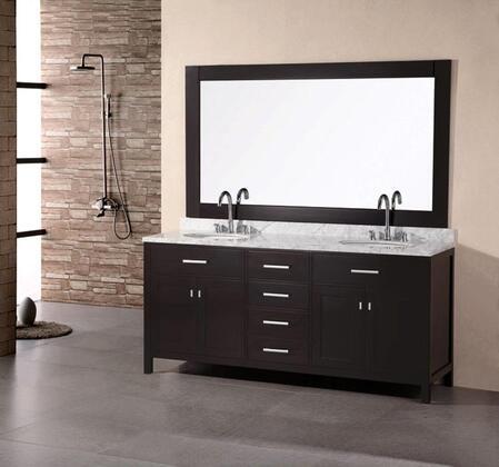DEC076B London 72 inch  Double Sink Vanity Set in