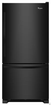 Whirlpool 18.5 Cu. Ft. Bottom-Freezer Refrigerator Black WRB329DMBB
