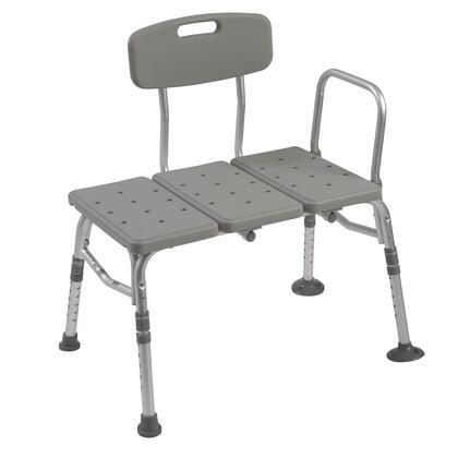 Plastic Transfer Bench with Adjustable Backrest 12011KD-1