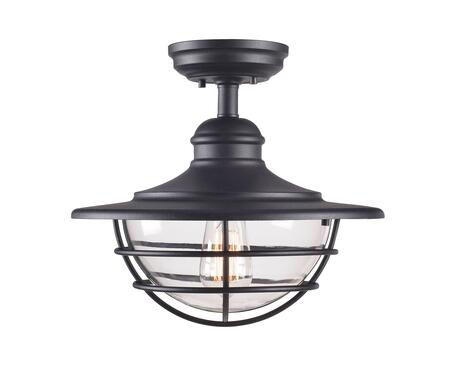 Eli 93669BL 1-Light Semi-Flush Ceiling Light with 9.5