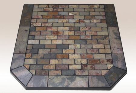 AP839 Tumbled Slate Collection Montana Flagstone 48 inch  x 48 inch  Corner Hearth