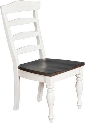 Carriage House Collection 1432EC 41 Dining Chair with Ladder Back  Decorative Turned Legs and Wood Seat Construction in European