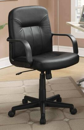 800049 Office Chairs Casual Office Task Chair with 360 Degree Swivel Base  Black Leather-Like Vinyl and Thick Plush Cushion in
