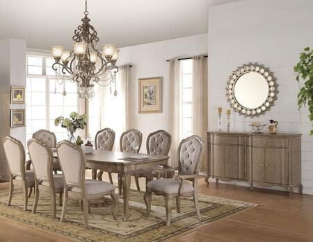 Chelmsford Collection 66050SETS 10 PC Dining Room Set with Dining Table  6 Side Chairs  2 Arm Chairs and Server in Antique Taupe