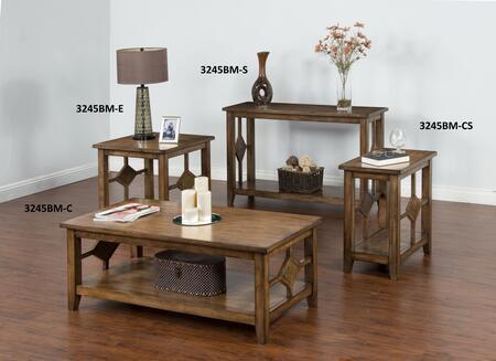 3245BM-Ckit1 Coventry Coffee Table with Chair Side Table   Coventry Sofa/ Console Table and End Table in Burnish Mocha