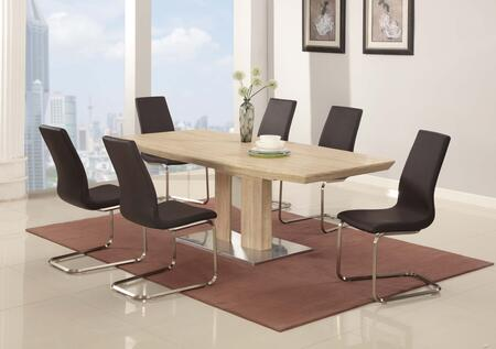 ZOEY-5PC-BRW ZOEY DINING 5 Piece Set with Zoey-Sc in