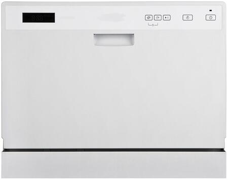 WC3203 Countertop Dishwasher with 6 Place Setting Capacity  Compact Design  Electronic Controls  LED Display  6 Wash Cycles and Stainless Steel Interior  in
