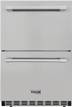 Thor Kitchen HRF2401U 4.7 cu. ft. Under Counter Double Drawer Refrigerator in Stainless Steel Home Appliances