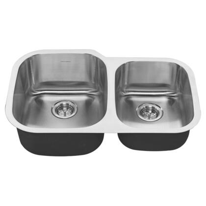 Portsmouth Collection 18CR.9322100S.075 31 inch  x 20 inch  Offset Double Bowl Kitchen Sink in Stainless